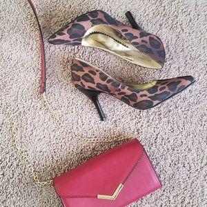 Rampage Leopard-print Heels - host pick